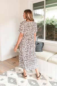 TALULAH MAXI DRESS - PINK LEOPARD