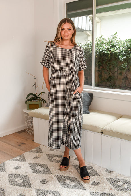 CROSS MAXI - BLACK GINGHAM