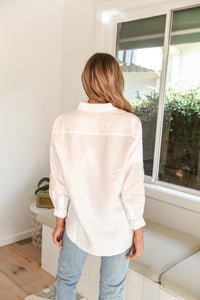 XANDER LONG SLEEVE SHIRT - WHITE