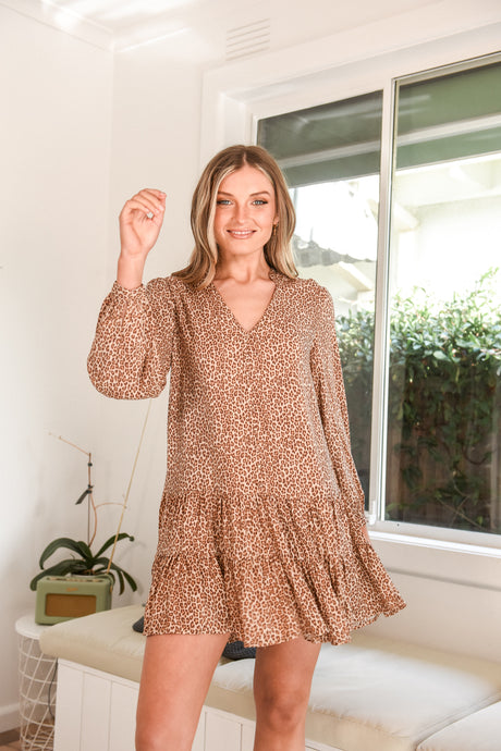 HAMP DRESS - LEOPARD