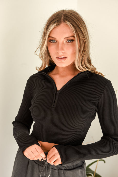 HANA TOP - BLACK