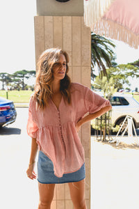 LALORA TOP - BLUSH