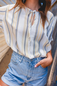 EYA TOP - MUSTARD STRIPE