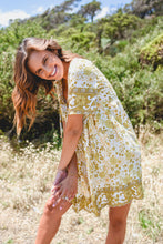 Load image into Gallery viewer, STEVIE DRESS - YELLOW/WHITE