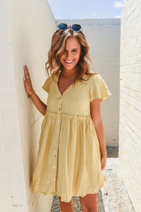MENZIE DRESS - MUSTARD