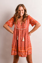 Load image into Gallery viewer, STEVIE DRESS - RED BOHO