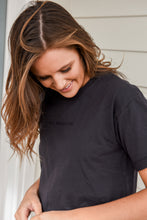 Load image into Gallery viewer, ALL ABOUT EVE  WASHED TEE - WASHED BLACK