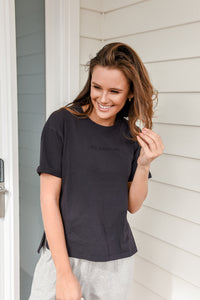 ALL ABOUT EVE  WASHED TEE - WASHED BLACK