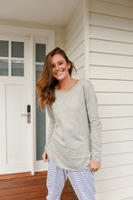 Load image into Gallery viewer, LAYLA LONGSLEEVE TEE - GREY MARLE