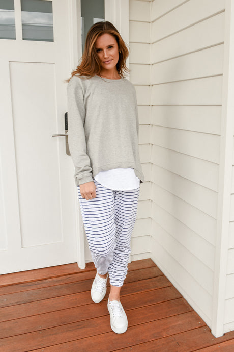 LUCY SWEATER - GREY MARLE