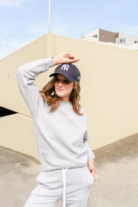 LOGO FLEECE - GREY MARLE
