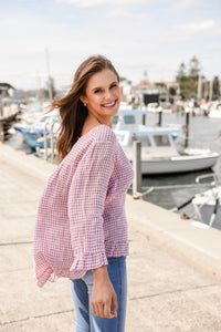 ELKY LONG SLEEVE TOP - PINK