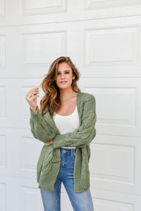 TWISTED CARDI - GREEN