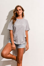Load image into Gallery viewer, LOGO COTTON CREW TEE - GREY MARLE