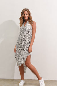 THESSY DRESS - WHITE SPOT