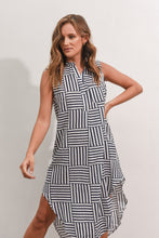 Load image into Gallery viewer, SPIRAL DRESS - NAVY