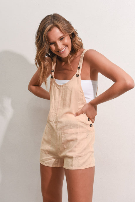 TROUBLEMAKER PLAYSUIT - NUDE