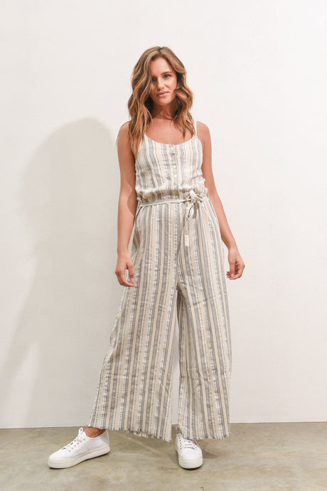SURROUNDINGS JUMPSUIT - FEATHER GREY