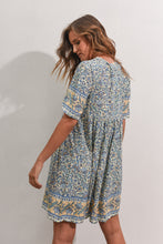 Load image into Gallery viewer, STEVIE DRESS - BLUE/YELLOW