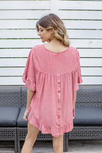 CASSIS TOP - ROSE