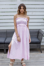 Load image into Gallery viewer, LYDIA MIDI DRESS - PINK GINGHAM