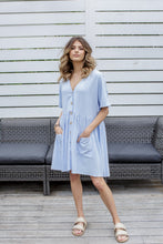 Load image into Gallery viewer, ADELA DRESS - BLUE