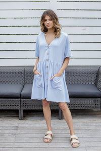 ADELA DRESS - BLUE