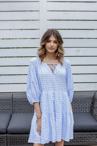 JOLIE DRESS - BLUE GINGHAM