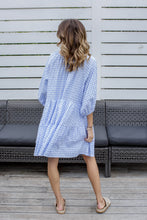 Load image into Gallery viewer, JOLIE DRESS - BLUE GINGHAM