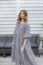Load image into Gallery viewer, RYLEE DRESS - BLACK GINGHAM