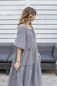 RYLEE DRESS - BLACK GINGHAM