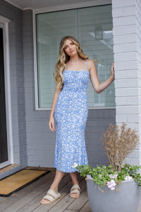 GEN DRESS - BLUE FLORAL
