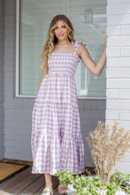 Load image into Gallery viewer, VIVIAN DRESS - LILAC GINGHAM