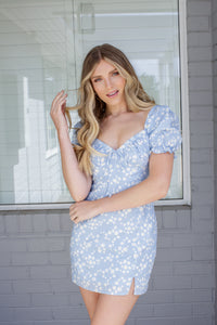 DAISY FLOW DRESS - BLUE