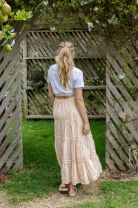 KYE SKIRT - YELLOW STRIPE