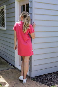 ALL ABOUT EVE WASHED TEE DRESS - ROSE