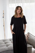 Load image into Gallery viewer, CROSS MAXI DRESS - BLACK