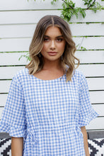 Load image into Gallery viewer, SARINA DRESS - BLUE GINGHAM