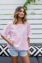 Load image into Gallery viewer, ANIKA TOP - PINK GINGHAM