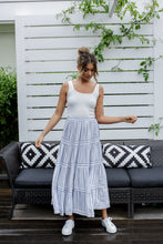 Load image into Gallery viewer, OTTO SKIRT - LIGHT BLUE STRIPE