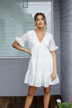 Load image into Gallery viewer, SABINA DRESS - WHITE