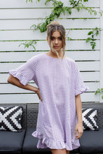 Load image into Gallery viewer, ELKY DRESS - LILAC GINGHAM