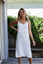 Load image into Gallery viewer, LINEN SLIP DRESS - SILVER