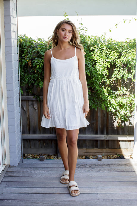 LILA MINI DRESS - WHITE