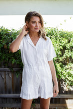 Load image into Gallery viewer, BLAIR LINEN PLAYSUIT - SILVER GREY