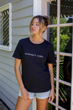Load image into Gallery viewer, LOGO COTTON CREW TEE - BLACK