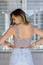 Load image into Gallery viewer, ROSA CROP TOP - BLUE