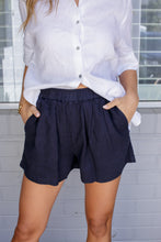 Load image into Gallery viewer, NOMA LINEN SHORT - NAVY