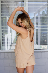 TILLY TOP - TAUPE