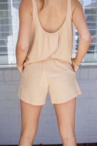 TILLY SHORT - TAUPE